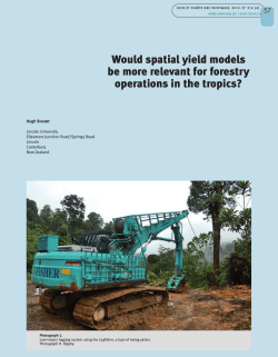 Would spatial yield models be more relevant for forestry operations