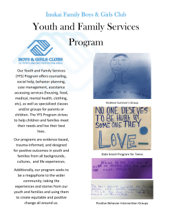 Youth and Family Services Program