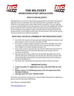 the big event operations staff application