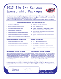 a full overview of our Sponsorship