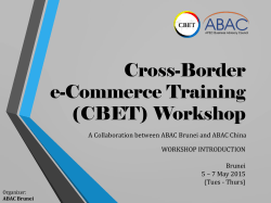 Cross-Border e-Commerce Training (CBET) Workshop - bimp