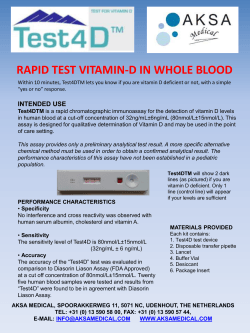 RAPID TEST VITAMIN-D IN WHOLE BLOOD - Biotech-IgG