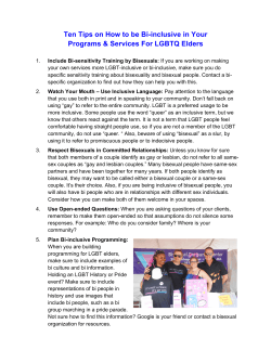 Ten Tips on How to be Bi-inclusive in Your Programs & Services For