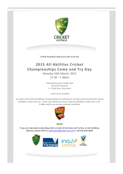 2015 All Abilities Championships Childrens Come And Try Day