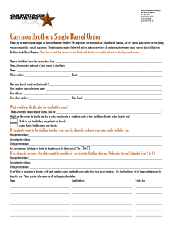 Garrison Brothers Single Barrel Order
