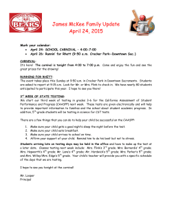 James McKee Family Update April 24, 2015