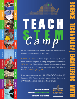Teach Summer Camps! - Northern Virginia Community College