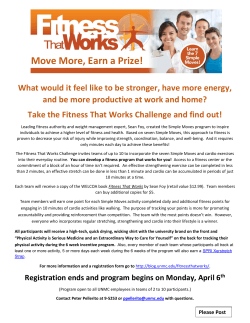 Fitness That Works Flyer2 - A Day in the Life at UNMC