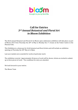 Call for Entries 3rd Annual Botanical and Floral Art in B