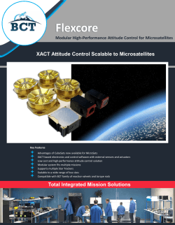 BCT Flexcore Datasheet - Blue Canyon Technologies