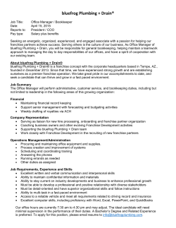 Office Manager - bluefrog Plumbing + Drain