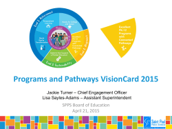 Programs and Pathways VisionCard 2015
