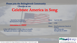 Celebrate America in Song - Bolingbrook Community Chorus