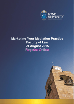 Marketing Your Mediation Practice Faculty of Law