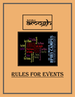 Event Rule Book