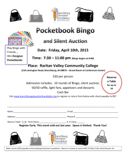 to the Pocketbook Bingo and Silent Auction information