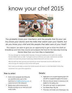 2015 Seasonal Promotion Know Your Chef