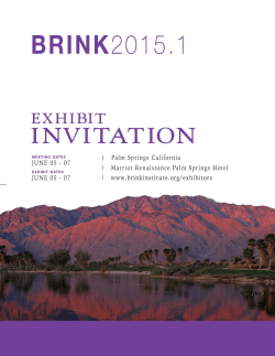 why exhibit? brink2015