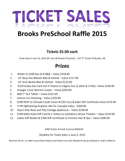 Brooks Preschool SPRING RAFFLE