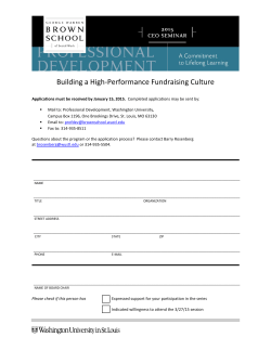 Building a High-Performance Fundraising Culture
