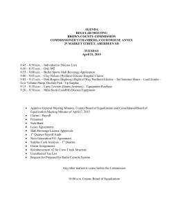 Brown County Commission April 21, 2015