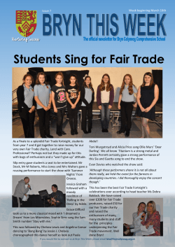 Students Sing for Fair Trade - Bryn Celynnog Comprehensive School