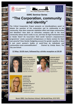 Corporation and Community Poster