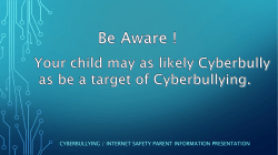 Cyber Safety Information - Bunscoil Mhuire Youghal