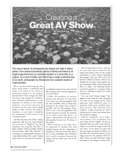 Creating a Great AV Show-Paul Sparrow