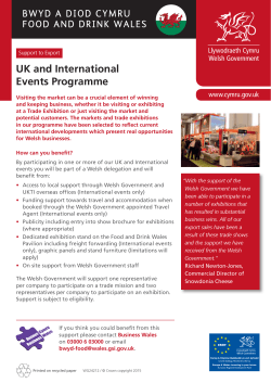 UK and International Events Programme - Business Wales