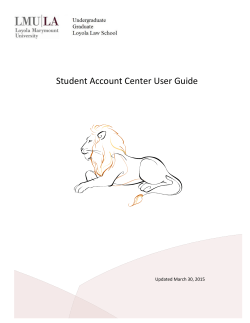 Student Account Center User Guide