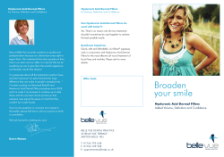 Dermal Filler Treatments Leaflet