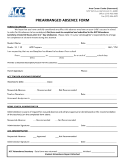 PREARRANGED ABSENCE FORM - Griffith Public Schools