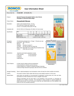 User Information Sheet - Ronco Protective Products
