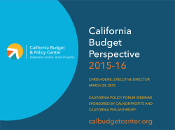 California Budget Perspective 2015-16