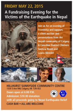A Fundraising Evening for the Victims of the Earthquake in Nepal