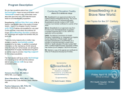 Flyer - California Breastfeeding Coalition
