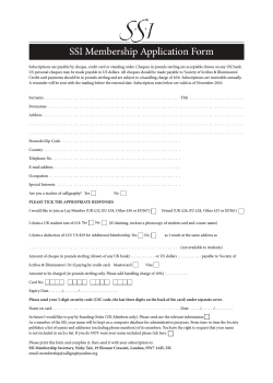 a Membership Application Form