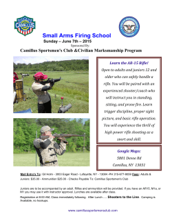 June 7 Small Arms School Flyer