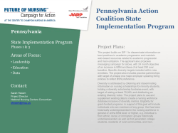 Pennsylvania Action Coalition State Implementation Program