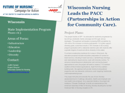 Wisconsin Nursing Leads the PACC