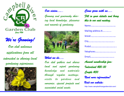 We`re Growing! - Campbell River Garden Club