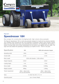 Speedresser 18H - Campey Turf Care Systems