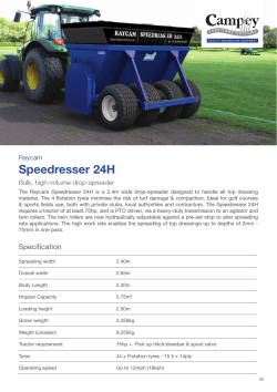Speedresser 24H - Campey Turf Care Systems