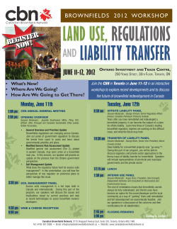land use, regulations and liability transfer
