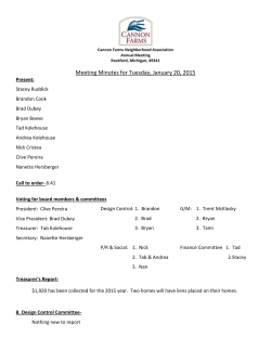 January 20, 2015 - Board Meeting Minutes