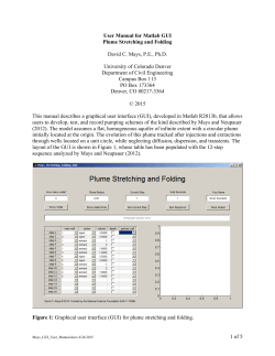 1 of 5 User Manual for Matlab GUI Plume Stretching and Folding