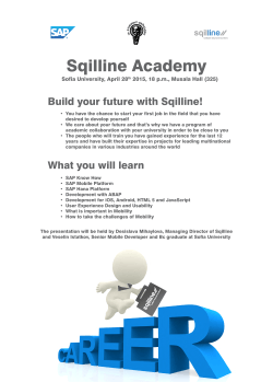 Build your future with Sqilline! What you will learn