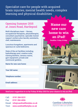 Name our new care home to win an iPad!