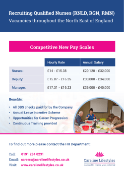 Competitive New Pay Scales Recruiting Qualified Nurses